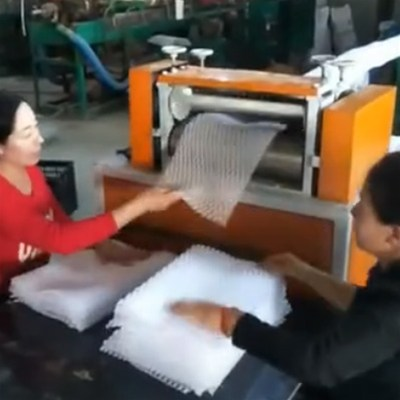 EPE发泡网垫生产视频